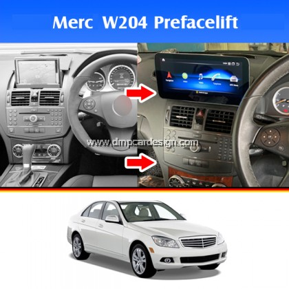"""Merc C-Class W204 Pre-Facelift 10.25"""" Android Widescreen Touch Screen Tesla Size"""