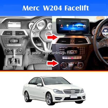 "Merc C-Class W204 Facelift 10.25"" Android Widescreen Touch Screen Tesla Size"