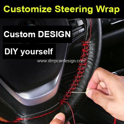 Customize DIY steering wrap for Mercedes-Benz BMW Audi Toyota Honda