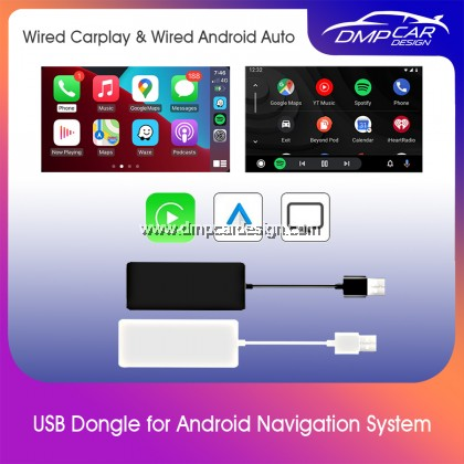 USB Wired Carplay Dongle For Apple iPhone Android Auto Car Radio Music Navigation Player