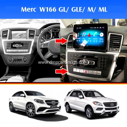 """Merc ML GL GLE GLS Class W166 9"""" Android Widescreen Touch Screen Tesla Size"""