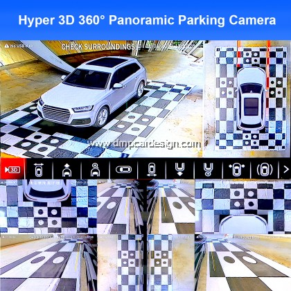 Hyper 3D 360 Car Surround View System Auto Bird View Panorama DVR System 4 Camera HD 1080P Car DVR Recorder 3D Parking Assistance