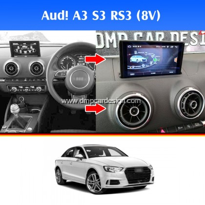 "Aud! A3 S3 RS3 8"" Android Widescreen Touch Screen Tesla Size"