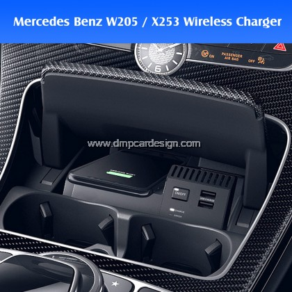 Merc W205 X253 C / GLC Class Wireless Fast Charge Easy Plug and play charger