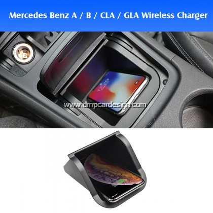 Mercedes Benz W176 W246 W117 X156 A B CLA GLA Class Wireless Fast Charge Easy Plug and play charger