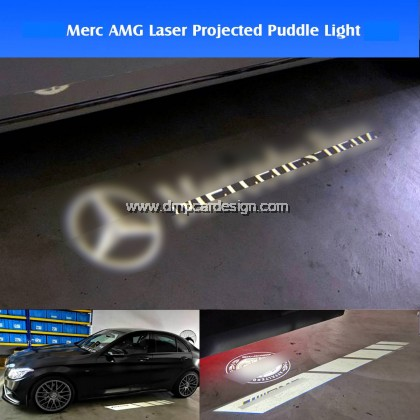 A-M-G Logo Projector Side Mirror Puddle Light for MERC W205 W213 W463 GT