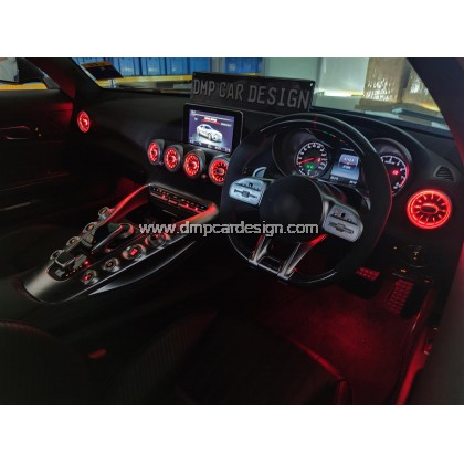 Merc AMG GT GTs Interior Ambient Light Front LED Console Turbine Style Airvent