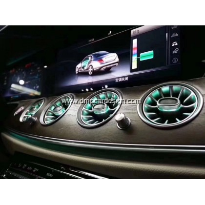 Merc E Class coupe cabriolet W238 Interior Ambient Light Front LED Console Turbine Style Airvent