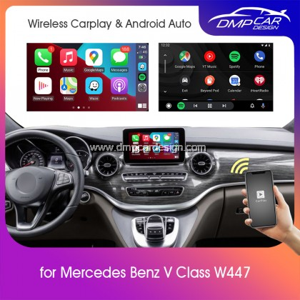 Wireless Apple Carplay For Mercedes Benz V Class W447 NTG 5.0 5.1 Android Auto Mirror iOS Mirroring Wifi
