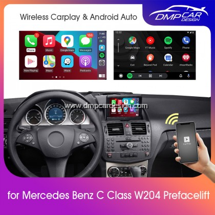 Wireless Apple Carplay For Mercedes Benz C Class W204 Pre-Facelift NTG 4.0 Android Auto Mirror iOS Mirroring Wifi
