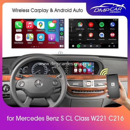 Wireless Apple Carplay For Mercedes Benz S CL Class W221 W216 C216 NTG 3.0 3.5 Android Auto Mirror iOS Mirroring Wifi