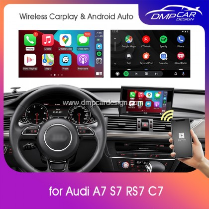 Wireless Apple Carplay For Audi MMI A7 S7 RS7 (C7) 2 3 3G 3G+ Android Auto Mirror iOS Mirroring