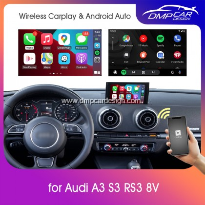 Wireless Apple Carplay For Audi A3 S3 RS3 (8V) MMI 2 3 3G 3G+ Android Auto Mirror iOS Mirroring