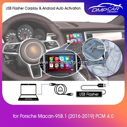 USB Flasher Activation Wired Apple Carplay and Wired Android Auto for Porsche Macan 95B.1 2016-2019 PCM 4.0