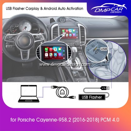 USB Flasher Activation Wired Apple Carplay and Wired Android Auto for Porsche Cayenne 958.2 2016-2018 PCM 4.0